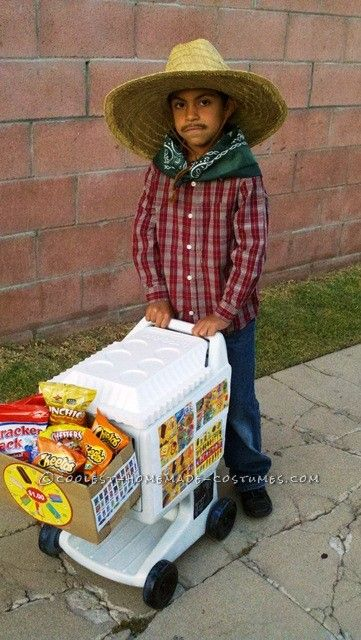 Last-Minute Homemade Paltero (Ice Cream Man) Costume... This website is the Pinterest of costumes