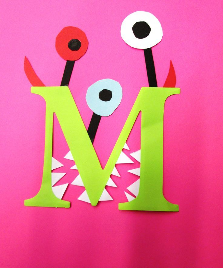 10 Incredible Alphabet Crafts For Toddlers- an adorable monster for the letter M