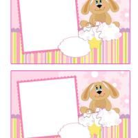 REPIN and LIKE Printable Puppy Frame Scrapbook - FreePrintable.com