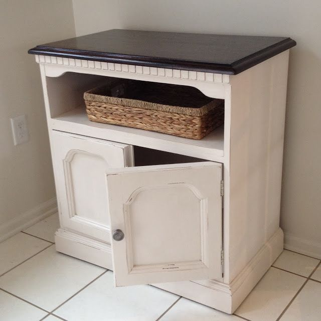 Two It Yourself: Thrifted TV Stand Makeover with Two-Tone Stain and Paint