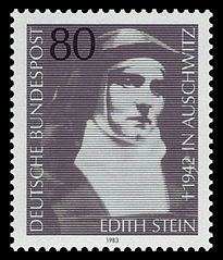 St Edith Stien patron of Europe; loss of parents; converted Jews; martyrs; World Youth Day[1]