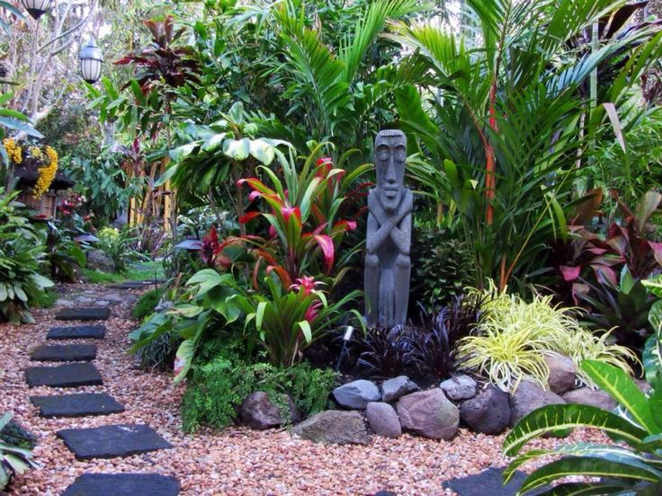 25 best ideas about tropical gardens on pinterest for Backyard plant design ideas