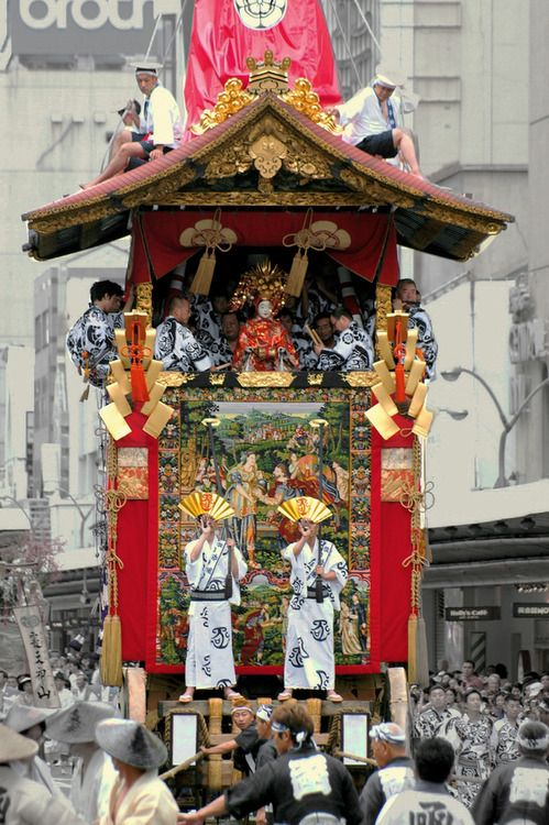 Float at the Gion Festival, Kyoto, Japan.