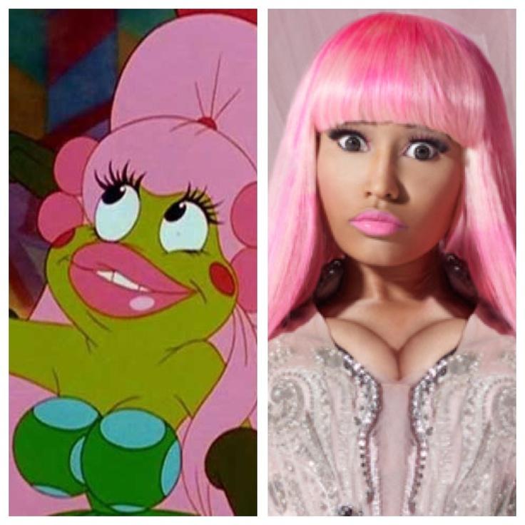 Nicki Minaj looks like the thumbelina frog. Nicki minaj