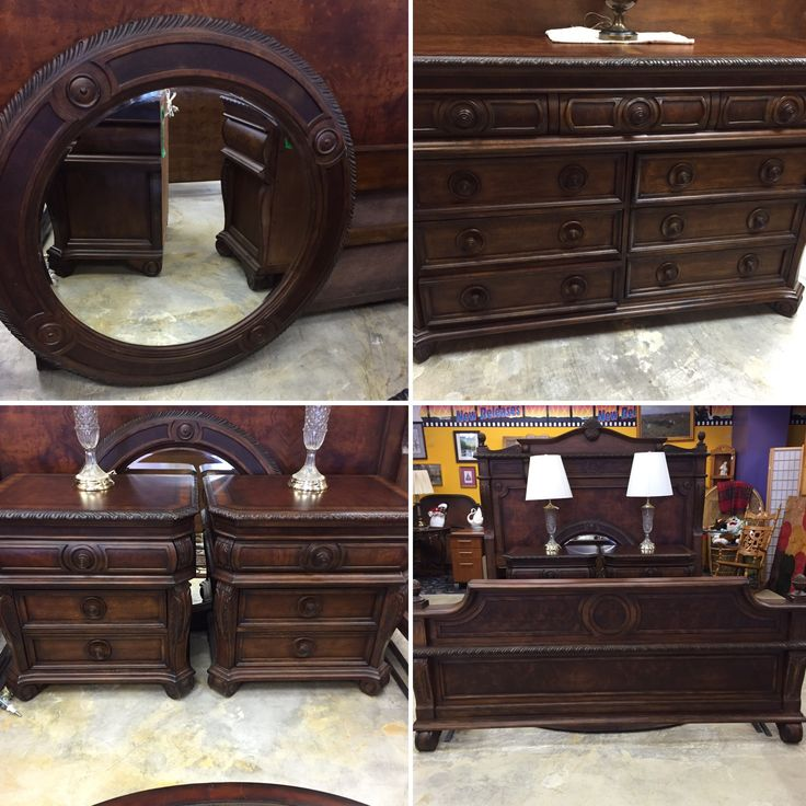 bedroom decor home house apartment beautiful forsale stunning fancy dresser nightstand bed kingsize mk consignment furniture sale gorgeous - King Size Bedroom Sets For Sale
