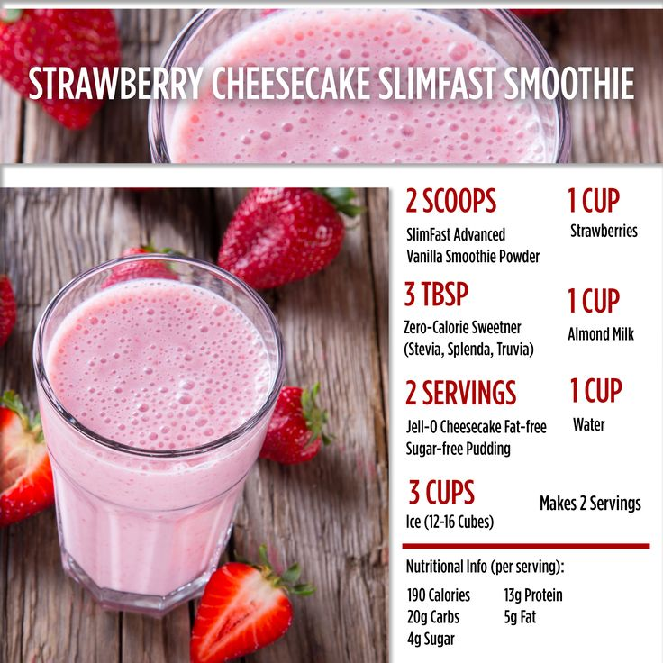 Strawberry Cheesecake Smoothie?! Need we say more? SlimFast | Shake | Healthy | Recipe | Nutrition | Diet