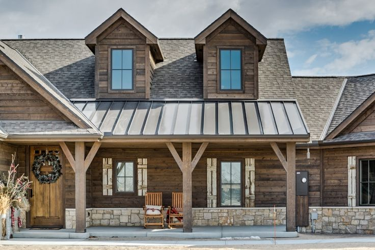 Ranchwood Siding And Trim Rustic Houses Exterior Stone Exterior Houses Ranch House Exterior