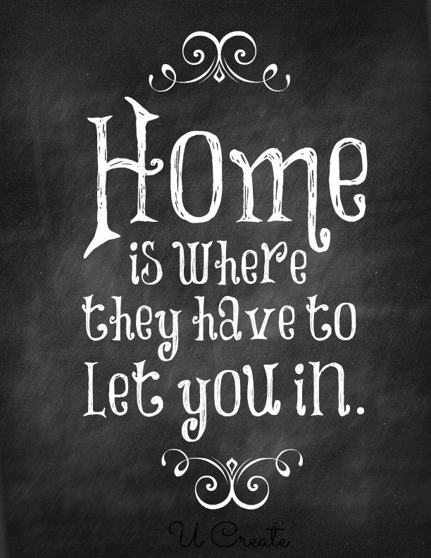 Home, sweet home... LOL!