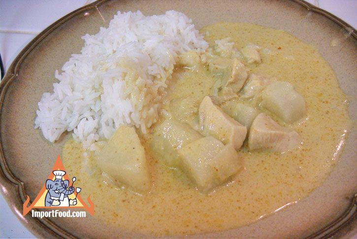 Authentic Thai recipe for Thai Yellow Curry Chicken, 'Gaeng Karee Gai' from ImportFood.com.