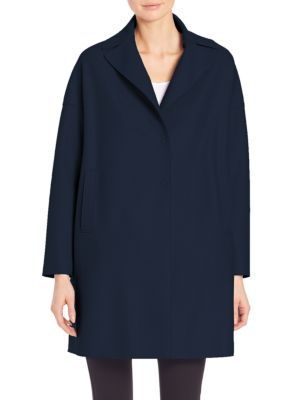 HARRIS WHARF LONDON Wool Oversized Coat. #harriswharflondon #cloth #coat