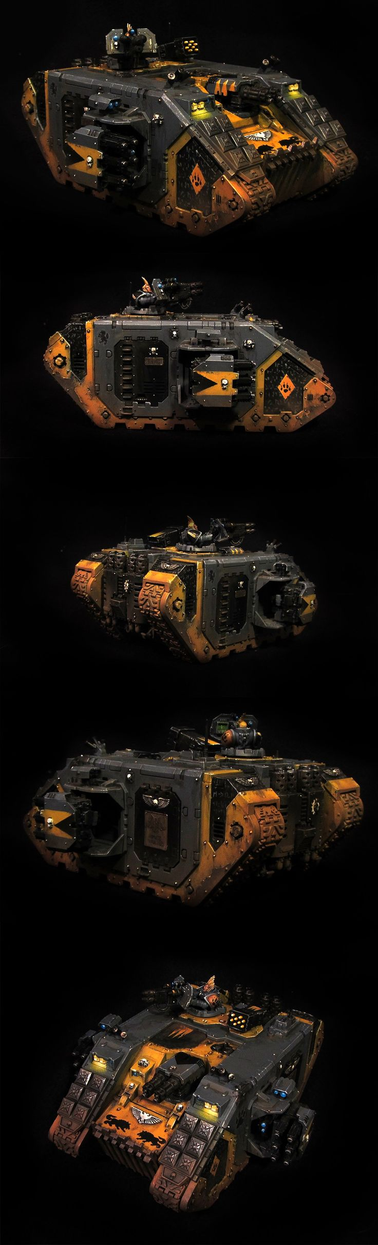 Land Raider Crusader - Space Wolves ( but I think that I could do something like this in an Iron Warriors theme)