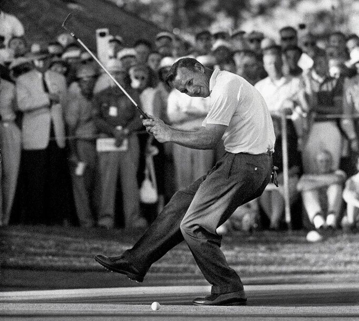 Arnold Palmer celebrates after winning the 1960 U.S. Open Golf Tournament at Cherry Hills Country Club in Englewood, Colo. The seven-time major champion remains one of the most endearing figures in...