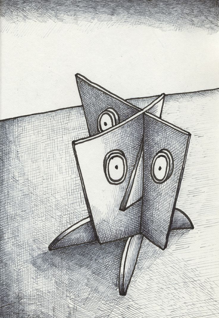 Is it Three or Four Eyes ? /  Pen and ink on paper