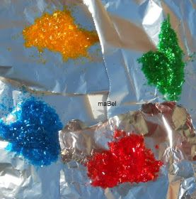 Pasteles de colores: Brillantina comestible casera - Glitter