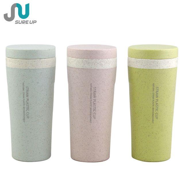 Hot Item Biodegradable Rice Husk Fiber Plastic Wheat Straw Mug Reusable Coffee Cup Biodegradable Products Reusable Coffee Cup Coffee Cups