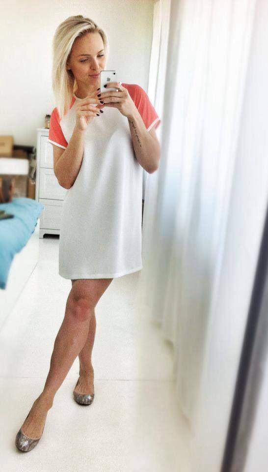 Dress with colored sleeves Sukienka z kolorowymi rękawkami  http://www.barracudawear.pl/ss14/sukienka-z-kolorowymi-rekawkami/
