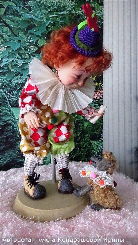 авторские куклы клоуны фото как получить цвет