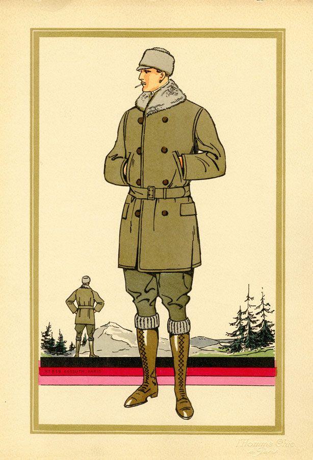 Vintage Men's Fashion Illustrations - 1920s Men's Style - Esquire