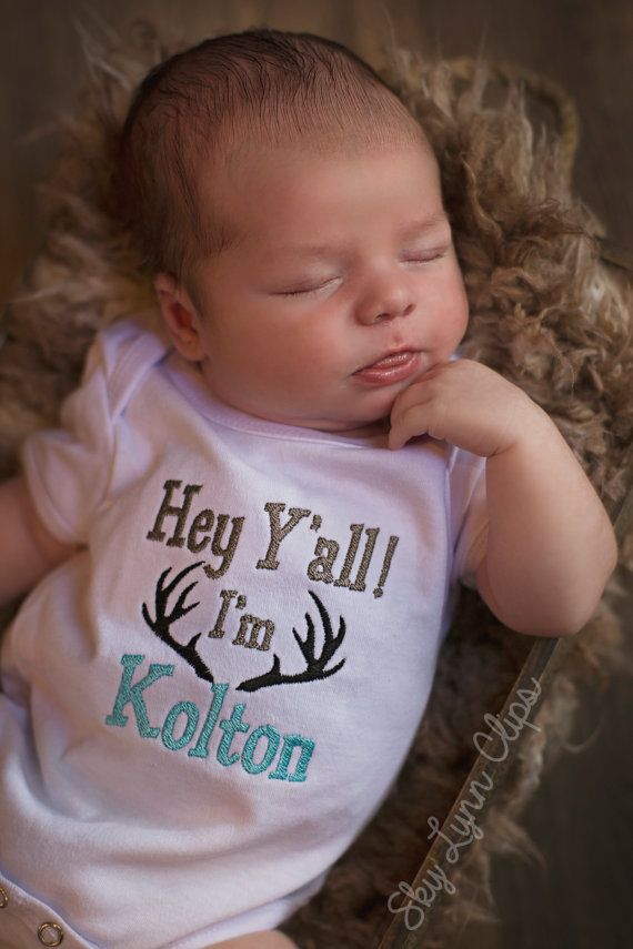 Hey Yall Personalized New Baby Take Home Outfit by SkyLynnClips