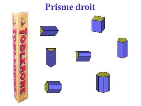 Prisme droit. 1. Définition 2. Patron 3. Aire latérale 4.Unités de volume 5.Volume d'un prisme droit.