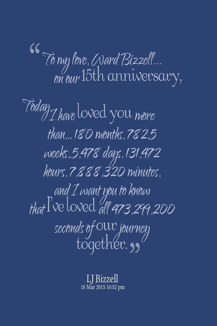 Happy 15th Anniversary To My Wonderful Husband Thanks For Keeping Your Love Gog Happy 15th Anniversary 15th Anniversary Anniversary