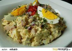 Vajíčkový salát s tuňákem recept - TopRecepty.cz