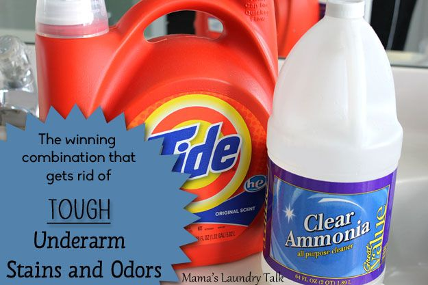 How to remove tough underarm stains and odors on shirts for Cleaning fish tank with vinegar