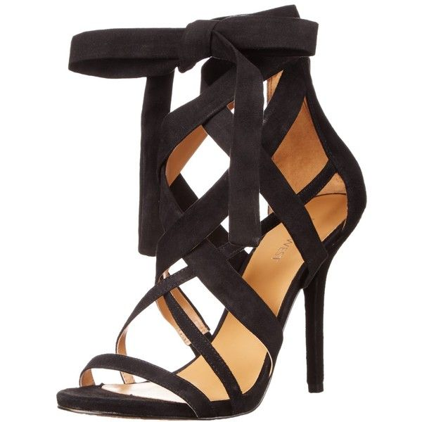 Nine West Women's Rustic Fabric Heeled Sandal ($64) ❤ liked on Polyvore featuring shoes, sandals, nine west, nine west shoes, nine west sandals and heeled sandals