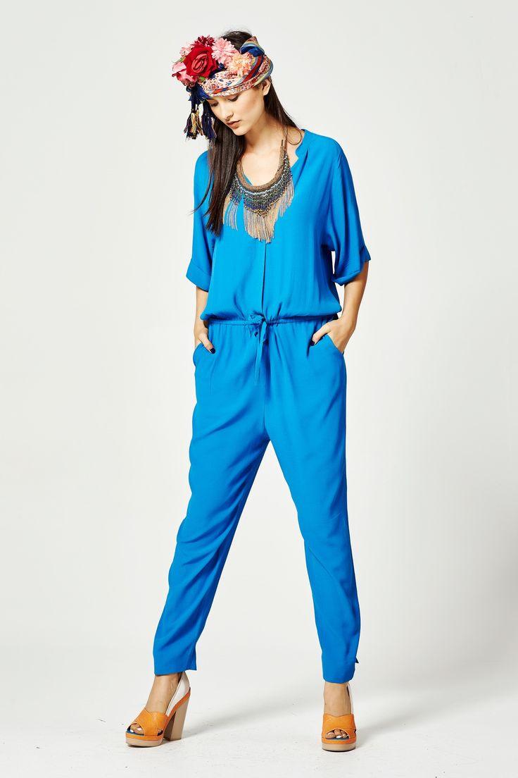 CUBA-ISM DREAM Jumpsuit - Cooper-New In : Trelise Cooper Online - BLUE HAWAII COOPER SPRING 16