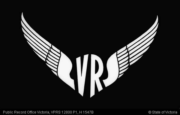VICTORIAN RAILWAYS WINGS EMBLEM NEGATIVE FORMAT