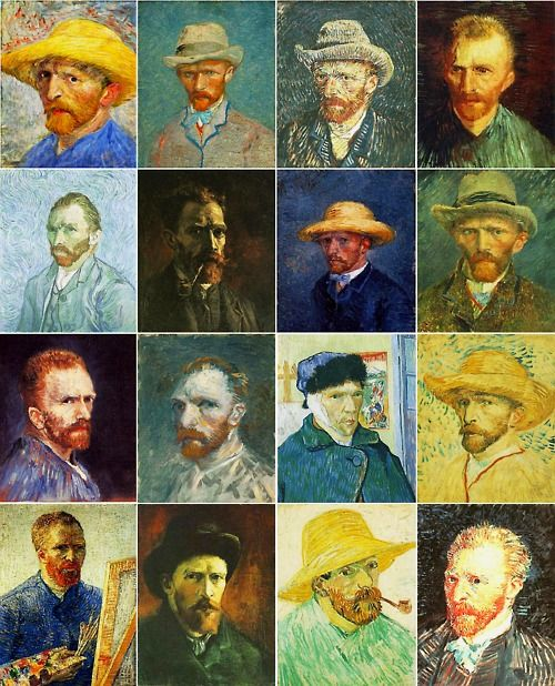 self portraits - Vincent Van Gogh