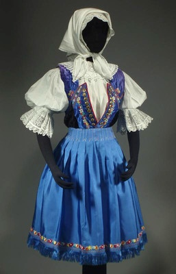 Woman's Folk Costume from Castkov, Slovakia