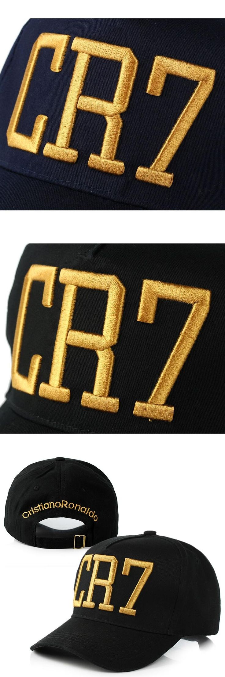 Newest Style Cristiano Ronaldo CR7 Hats Baseball Cap Hip Hop Caps Snapback Hats for Men Women Curved Eaves 2017 Dad
