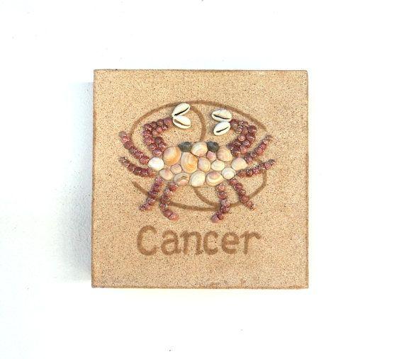 Cancer Star Sign, Seashell Mosaic on Sand, Artwork with Seashells and Sand, Mosaic Art, 3D Art Collage, Wall Art Decor, Gift Idea #ArtworkwithSeashells #mosaiccollage #seashellmosaic #homedecor #walldecor #3D