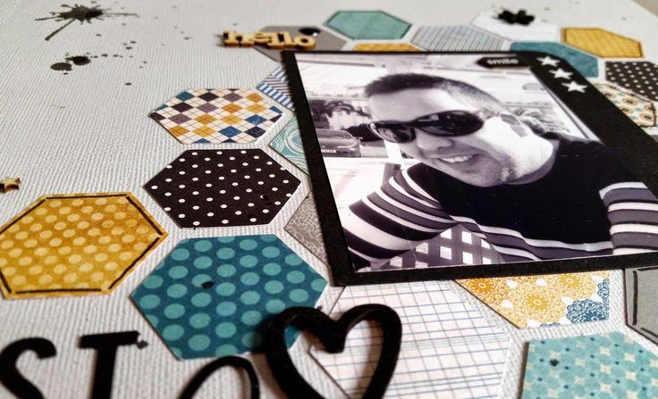 Un Lo masculino de la mano de @bangabooscrap #scrapbooking #layout