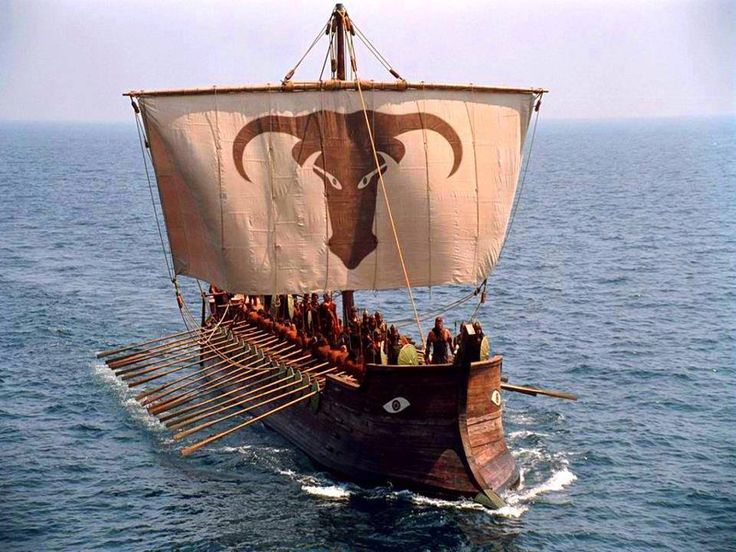 Greek Trireme under sail | Ancient Greek Warriors | Pinterest