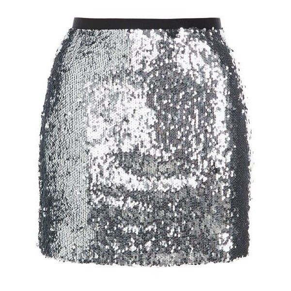 Topshop Dazzling Sequin Mini Skirt ($32) ❤ liked on Polyvore featuring skirts, mini skirts, bottoms, topshop, gonne, going out skirts, party skirts, sequin skirt, sparkle skirts and topshop skirts
