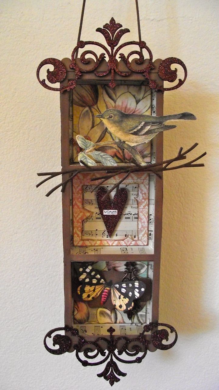 How to scrapbook a box - Collections Shadow Box Scrapbook Com