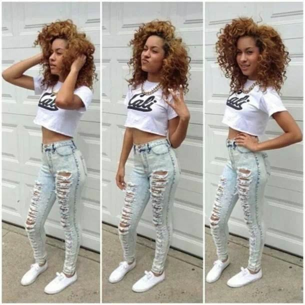 17 Best images about High waist jeans and crop tops on Pinterest ...