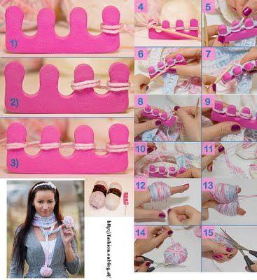 como hacer un telar con un separador de uñas