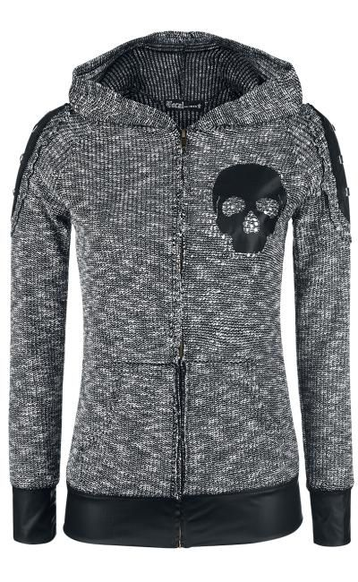 Vocal Skull hooded top