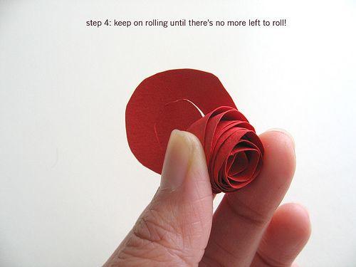 Paper flower tutorial: step 4 by dozidesign, via Flickr