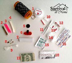 Contenido de mi equipo de supervivencia píldora botella