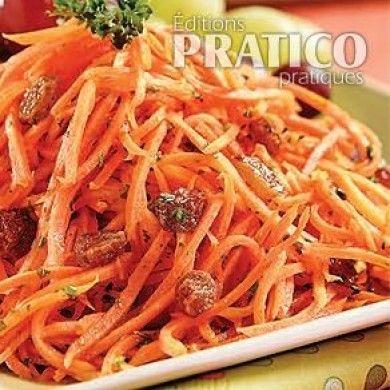 Salade carottes, miel et raisins - Recettes - Cuisine et nutrition - Pratico Pratique