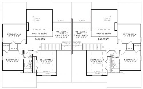 this wonderful duplex house plan will blend right in with. Black Bedroom Furniture Sets. Home Design Ideas