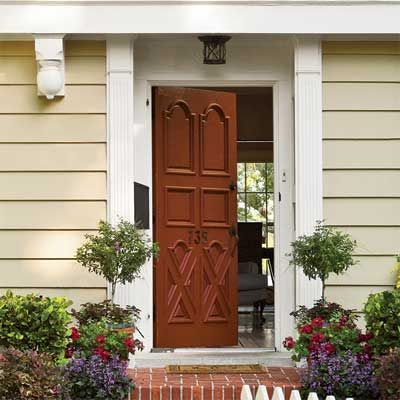 27 best images about sprucin 39 up the front on pinterest - Door colors for brown house ...