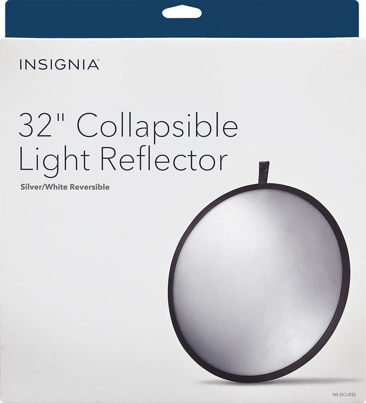 """Insignia™ - 32"""" Collapsible Light Reflector - White/Silver, NS-DCLR32"""