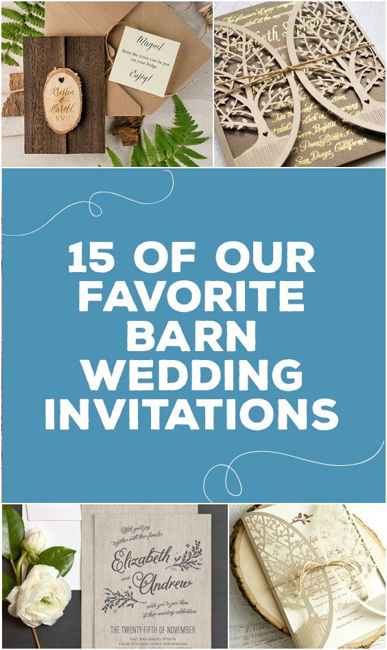 15 Of Our Favorite Barn Wedding Invitations