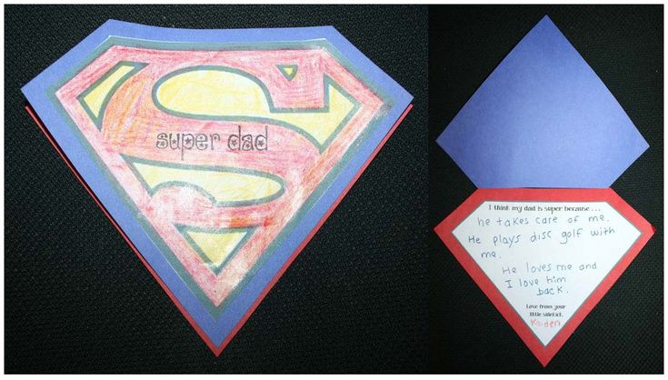 Father's Day activities: FREE, superhero-themed Father's Day card for children to make.