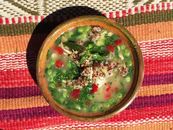 Quinoasoppa med kyckling | Recept.nu